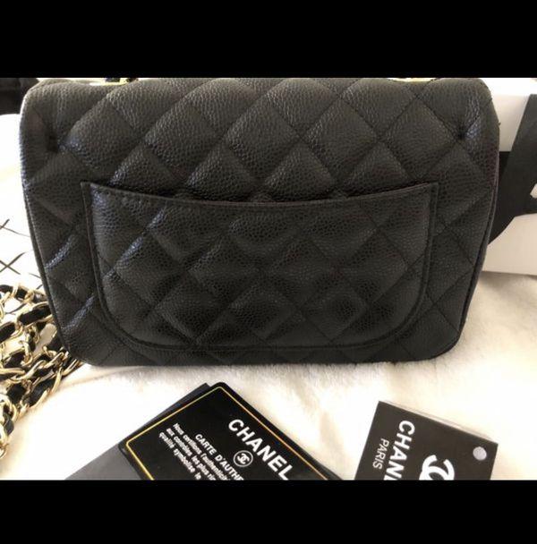 Chanel caviar black bag.