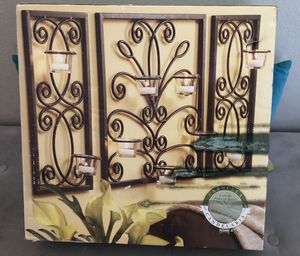 3 Panel Candle Wall Sconce for Sale in Winter Garden, FL