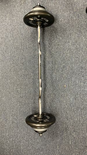 Weight, curl bar with weights.95 lbs adjustable for Sale in Jessup, MD