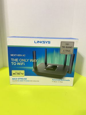New Linksys EA8250 Max-Stream AC2150 MU-MIMO Tri-Band WiFi 5 for Sale in Arlington, TX