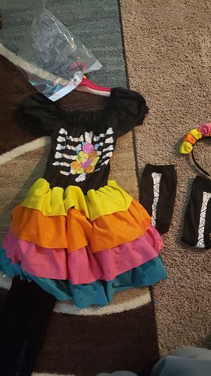 Girls day of the dead costume for Sale in Sacramento, CA