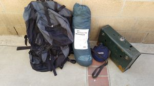 Hiking backpack with camping gear for Sale in Torrance, CA