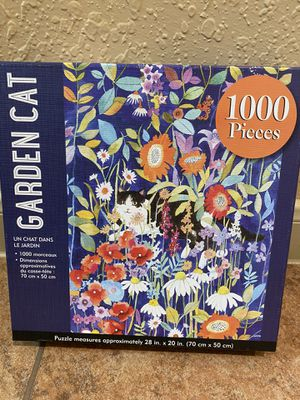 1000 piece Cat Garden puzzle for Sale in Spring, TX