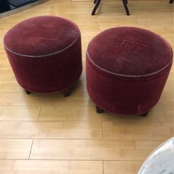 2 Velvet Cushion & Wood Leg Chairs for Sale in Rowland Heights,  CA