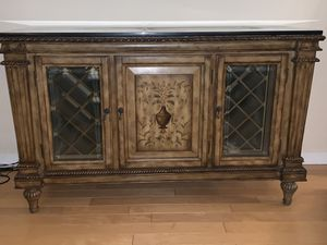 Fortunoff Granite Wine/Buffet Table -like new for Sale in Long Branch, NJ