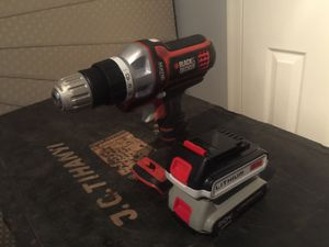 Black & and Decker Lithium 20v cordless drill and 2 batteries battery for Sale in Asheville, NC