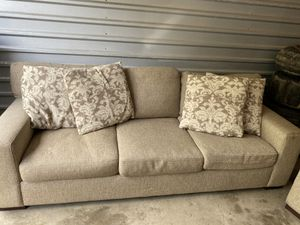 Couch and chair with pillows for Sale in West Bloomfield Township, MI