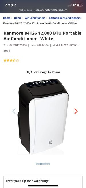 Kenmore 12,000 btu portable air conditioner for Sale in Anaheim, CA