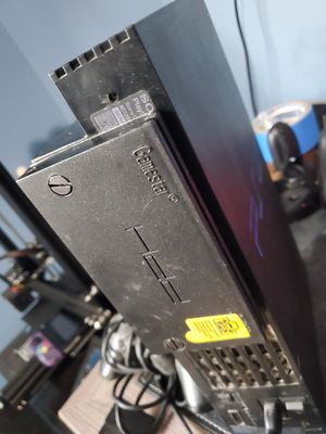 Jailbroken modded ps2 with hard drive loaded w games and 2 controllers for Sale in Houston, TX