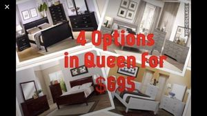 King queen full hardwood bedroom sets $40 down take home same day no credit checks 90 day option included for Sale in St. Louis, MO