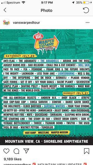 Vans Warped Tour Tickets! for Sale in Oceano, CA