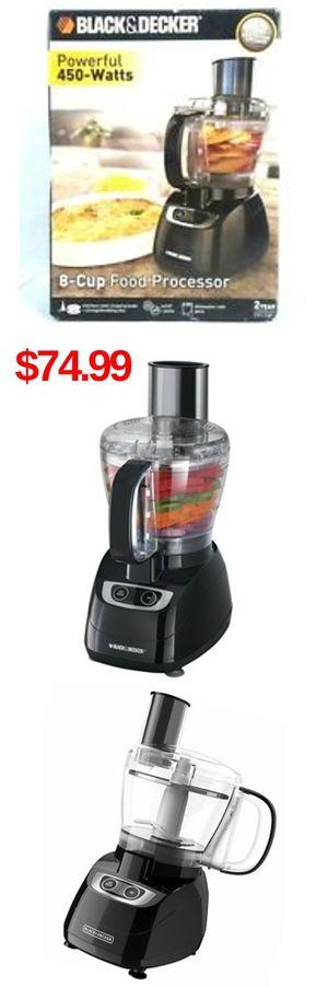 Black & Decker FP1700B 8-Cup Food Processor - Black 450W for Sale in Norwalk, CA