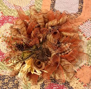 Fall mesh wreath for Sale in Stanford, KY