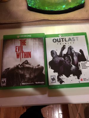 The Evil with in and outlast barely used none scratched for Sale in Manassas, VA