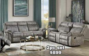 Slate Grey or Dark Brown 2pc Reclining Sofa Set for Sale in Lake Elsinore, CA