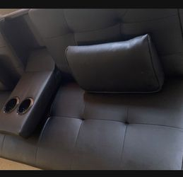 Beautiful Futon / MASSAGE RECLINER *MUST GO* WITH CUP HOLDER for Sale in Brooklyn,  NY