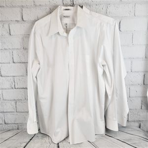"SET OF 2 Van Heusen Mens WHITE Oxford Dress Shirts - 18.5"" / 36-37"" / BIG for Sale in Queen Creek, AZ"