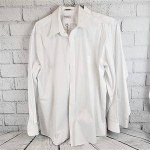 "SET OF 2 Van Heusen Mens WHITE Oxford Dress Shirts - 18.5"" / 36-37"" / BIG for Sale in Queen Creek, AZ"