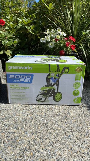 New Greenworks 2000-PSI 1.2-GPM Cold Water Electric Pressure Washer $160 firm for Sale in Federal Way, WA