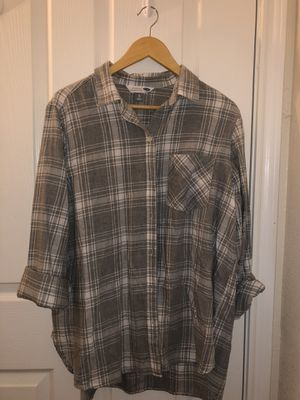 Women's Grey/White Plaid Button-Up (XL) for Sale in Rolla, MO