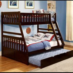 Rowe Cherry Twin/Full Bunk Bed With Trundle Or Storage Boxes for Sale in Silver Spring,  MD