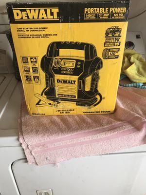 Dewalt jumpstarter compressor and power source for Sale in Colton, CA