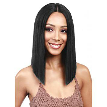 """N&T 14"""" Bob Wigs Short Straight Synthetic Hair Full Wigs for Women Natural Looking Heat Resistant"""