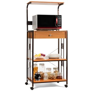 """59"""" Rolling Kitchen Storage Cart with Electric Outlet Home Furniture for Sale in Los Angeles, CA"""