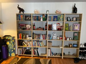 4 Bookshelf Set with Books for Sale in Los Angeles, CA