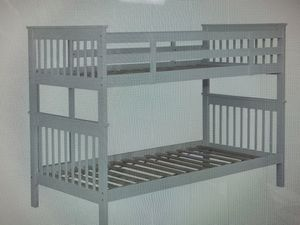 Absolutely gorgeous high-quality convertible bunkbed! Makes two twins! 399.00! Free delivery! Gorgeous matching chest 249! Free delivery for Sale in Mesa, AZ