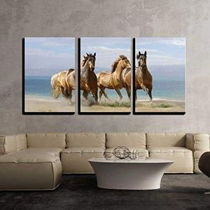 """3 Piece Canvas Wall Art - Horses in Summer - Modern Home Decor Stretched and Framed Ready to Hang - 24""""x36""""x3 Panels for Sale in Universal City, CA"""