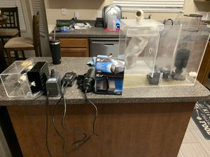 55 Gallon drilled Aquarium and sumo filter system for Sale in Tampa, FL