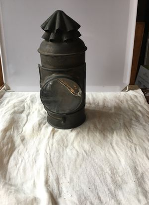 Antique gas magnified lamp for Sale in Hackettstown, NJ