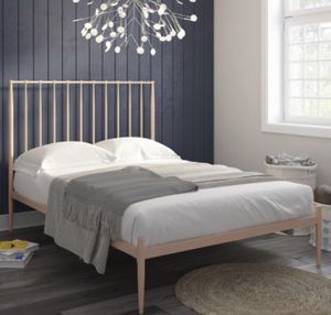 Blush Pink Queen Bedframe for Sale in Baltimore, MD