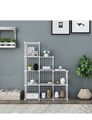 C&AHOME Wire Cube Storage, 9-Cube Storage Organizer, Metal Stackable Storage Bins, Modular Bookcase, DIY Closet Cabinet Ideal for Living Room Bedroom for Sale in La Grange Park, IL