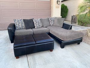 Sectional couch w/ ottoman for Sale in Chandler, AZ
