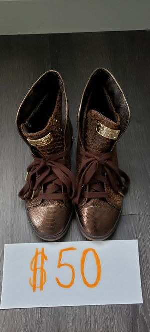 Michael Kors Brown High Top Sneakers Size: Wmns 8 for Sale in West Palm Beach, FL