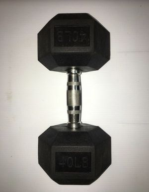 Weights 40 lb dumbbell (single dumbbell ) for Sale in Covina, CA