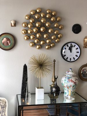 Gold leaf metal wall art for Sale in Portland, OR