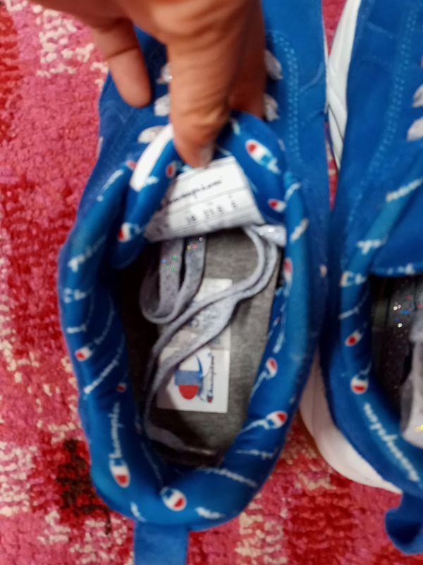 Blue Champion shoes