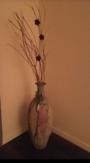 Beautiful decorative vase red flowers tall for Sale in Wesley Chapel, FL