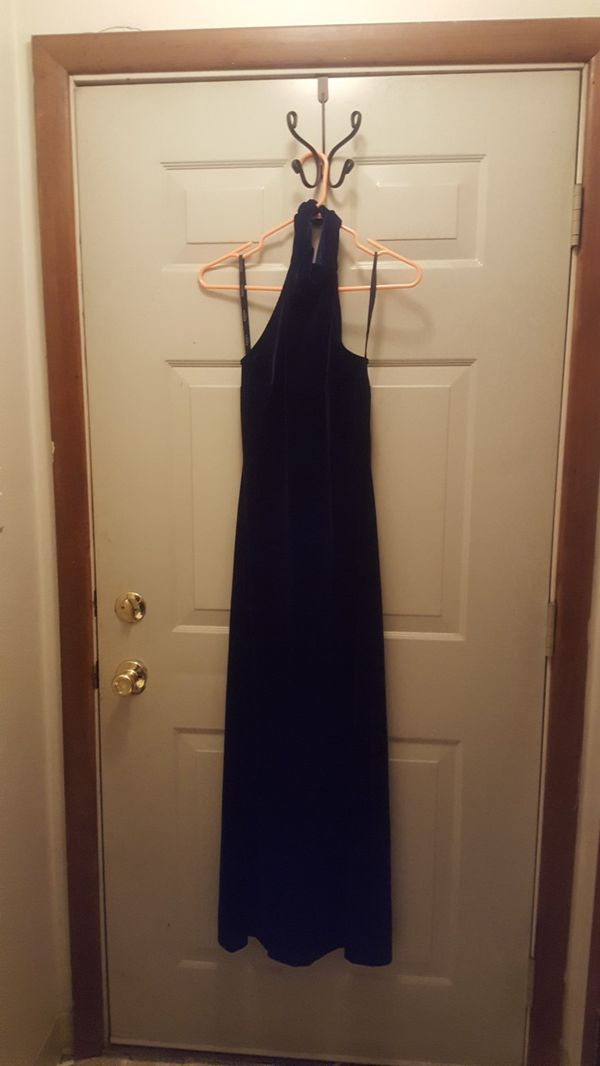 Prom Dress-Navy Blue Long Gown.