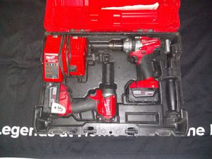 "Milwaukee M18 1/4"" hex impact driver & 1/2"" hammer drill combo set for Sale in Portland, OR"