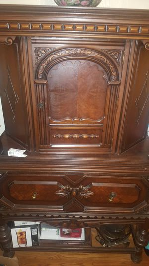 Antique China cabinet, buffet and 4 chairs for Sale in St. Louis, MO