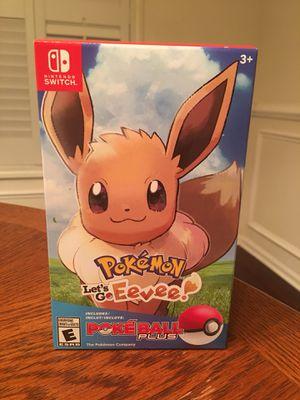 Pokémon Let's Go Eevee Pokéball Plus Bundle Nintendo Switch for Sale in Atlanta, GA