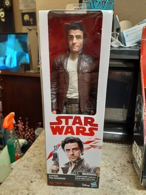 New Captain Poe Dameron Star Wars figurine doll for Sale in Tacoma, WA