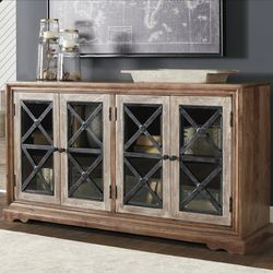 🌾Ellisburg Antique Brown Accent Cabinet 🌜NEW BRAND for Sale in Silver Spring,  MD