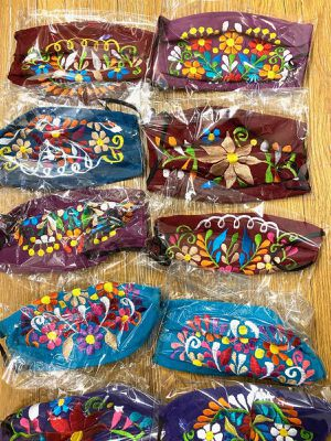 Enbroidery Face Masks, 100% Cotton, Mexican Styles, Many Colors! for Sale in Beaverton, OR