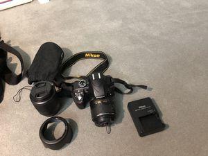 Nikon D3300 HDSLR camera 2 lense bundle for Sale in San Jose, CA