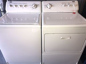 Used kenmore Elite heavy duty washer and dryer set. 1 year warranty for Sale in St. Petersburg, FL